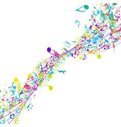 Multicolor musical design vector