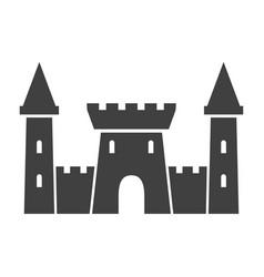 old castle black icon medieval old building vector image