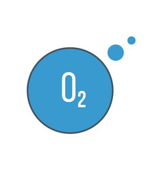 Oxygen o2 icon stock isolated on white background vector