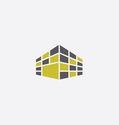 Perspective building logo icon symbol sign vector