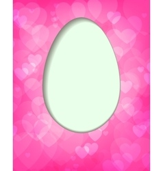 pink design with Easter egg vector image