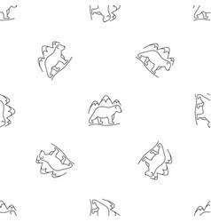 polar bear pattern seamless vector image
