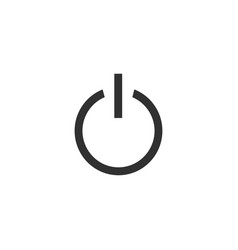 power button on off icon in trendy flat style vector image