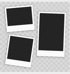 realistic empty paper photo frame vector image