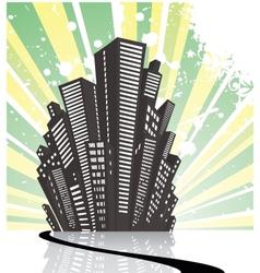Retro city1 vector image vector image