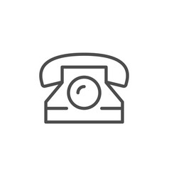 retro phone line icon vector image