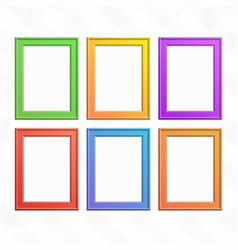 set of colorful wooden frames vector image vector image