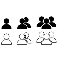set of people icon design for web logo app ui vector image