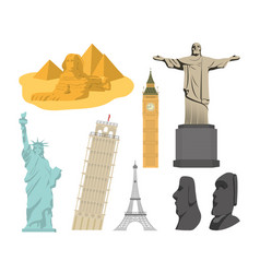 Set of world monuments vector
