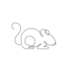 single continuous line drawing little cute vector image