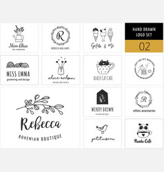 Stylish modern logos vector