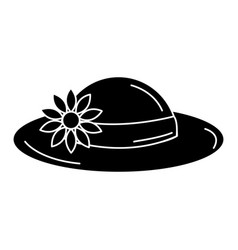 Summer female hat icon vector