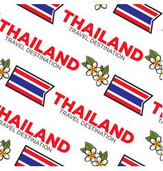 thailand travel destination seamless pattern vector image