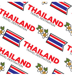 thailand travel destination seamless pattern with vector image
