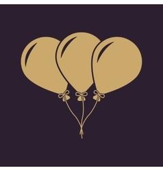 The balloons icon Fun and celebration birthday vector