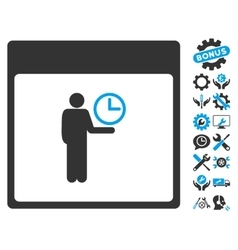 Time Manager Calendar Page Icon With Bonus vector