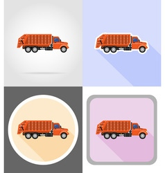 Truck flat icons 14 vector