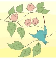 Tweeting Birds vector