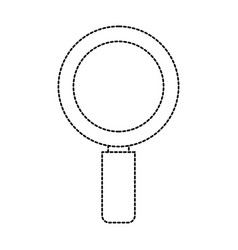 uncolored magnifiying glass vector image