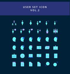 user flat style design icon set vol2 vector image
