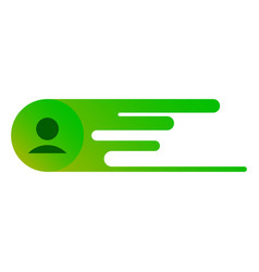 User profile sign web icon with check mark glyph vector
