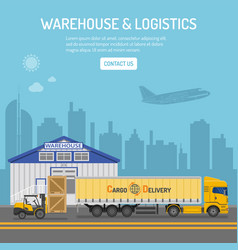 Warehouse and logistics concept vector