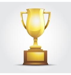 Winner golden cup light background vector
