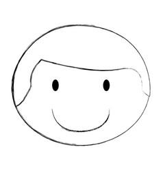 young man avatar character head vector image