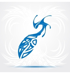 Blue sharp tribal tattoo vector image