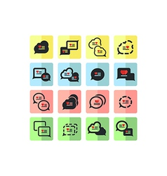 icons set of bubbles for speech vector image