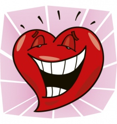 laughing heart vector image vector image