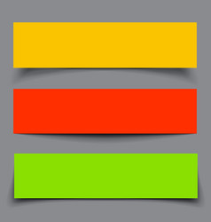 Set of Paper Colorful Banners with shadows vector image vector image