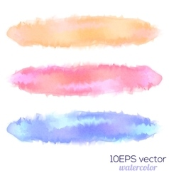 Set of three watercolor stain vector image