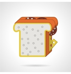Double sandwich flat color icon vector image