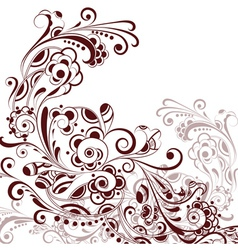 Floral abstract pattern4 vector image