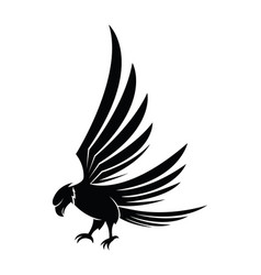 hawk icon isolated on a white background vector image vector image