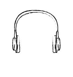 technology headphones device music sound icon vector image