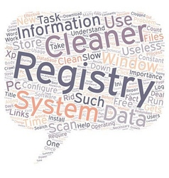 The Importance Of A Registry Cleaner text vector image
