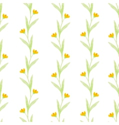 watercolor flowers spring seamless pattern vector image vector image