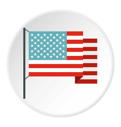 American flag icon circle vector