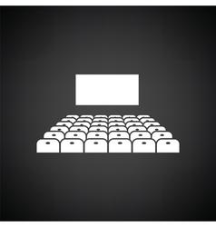 Cinema auditorium icon vector image vector image