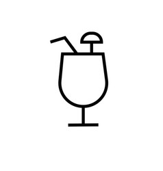 coctail icons vector image vector image