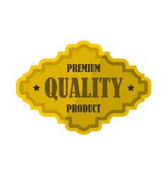 golden premium quality product label icon vector image vector image