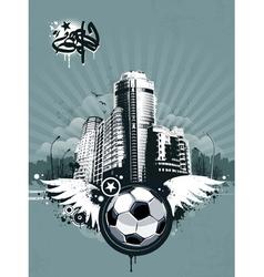 Grunge urban soccer background vector image