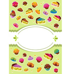 sweet cover menu vector image vector image