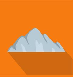 beautiful mountain icon flat style vector image