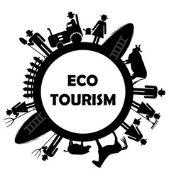 eco tourism icon vector image vector image