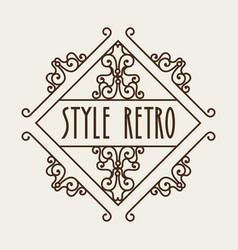 elegant frame style retro vector image vector image