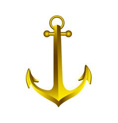 realistic golden silhouette anchor design vector image vector image