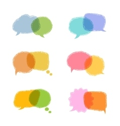 Speech bubbles w vector image vector image